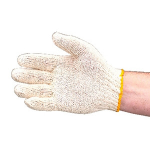 Techni-Tool Cotton Knit Gloves Reversible, Large, 12/Pack
