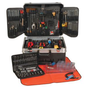 Techni-Tool Tool Kit Electronic Serv Master 191 Pc In/Met