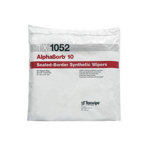 Texwipe Alphasorb Polyester Cleanroom Wipers, 12 x 12 in.