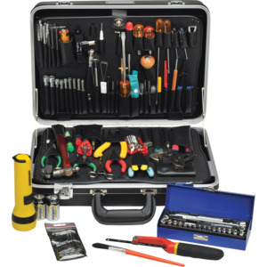 Tec-Tuff Master Electronic Tool Kit 121 Metric Tools Black